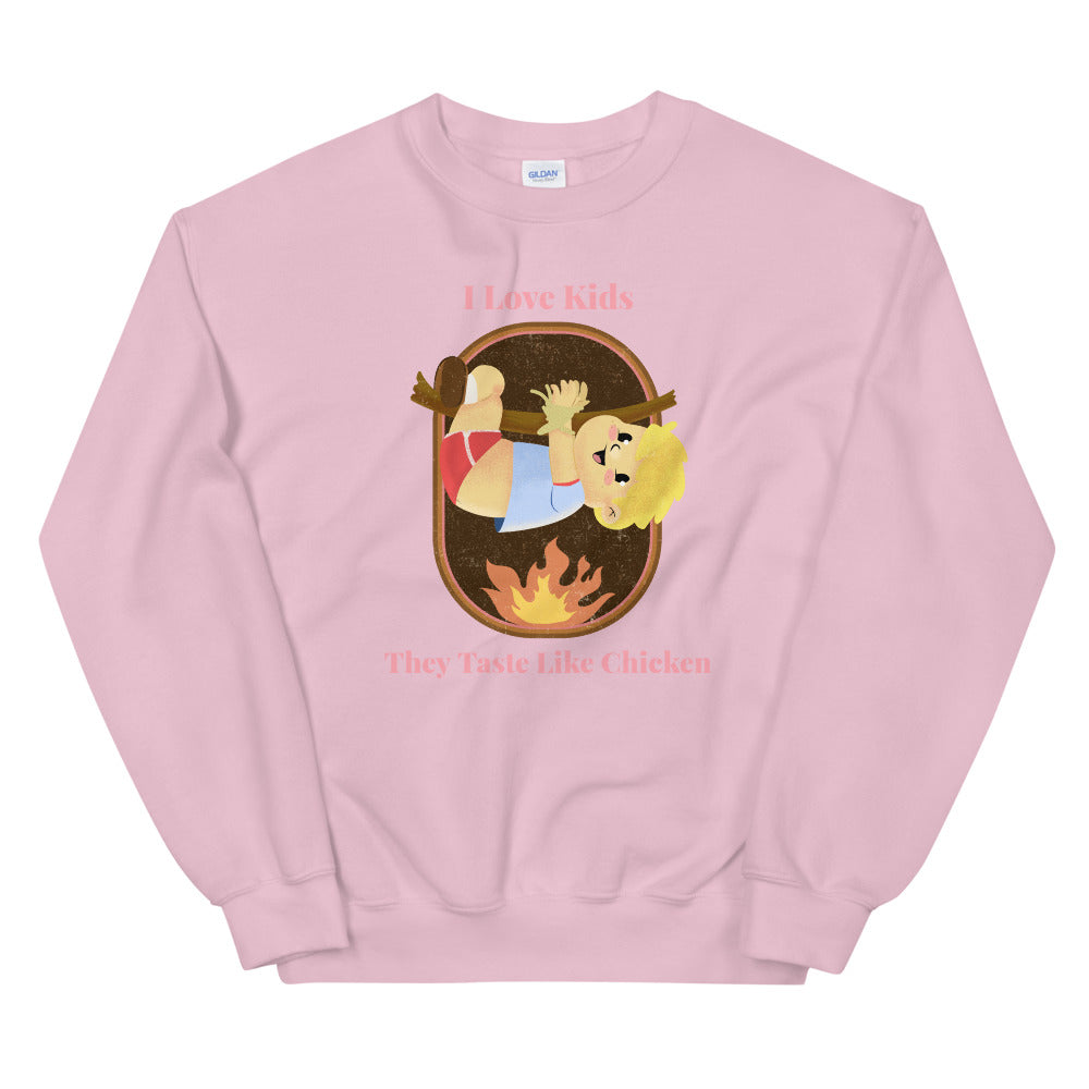 Evil Elementary Tastes Like Chicken Adult Horror Sweatshirt