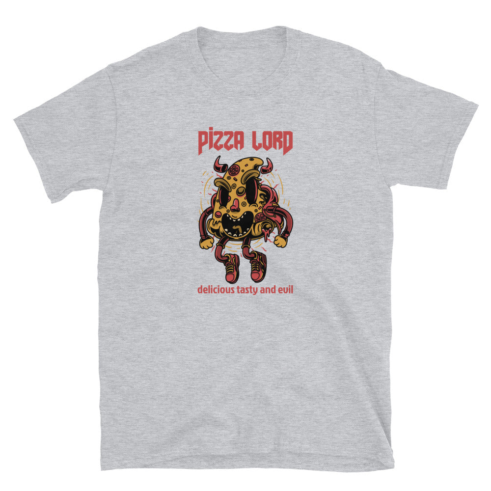 Zombie Bites Pizza Lord Funny Horror T Shirt