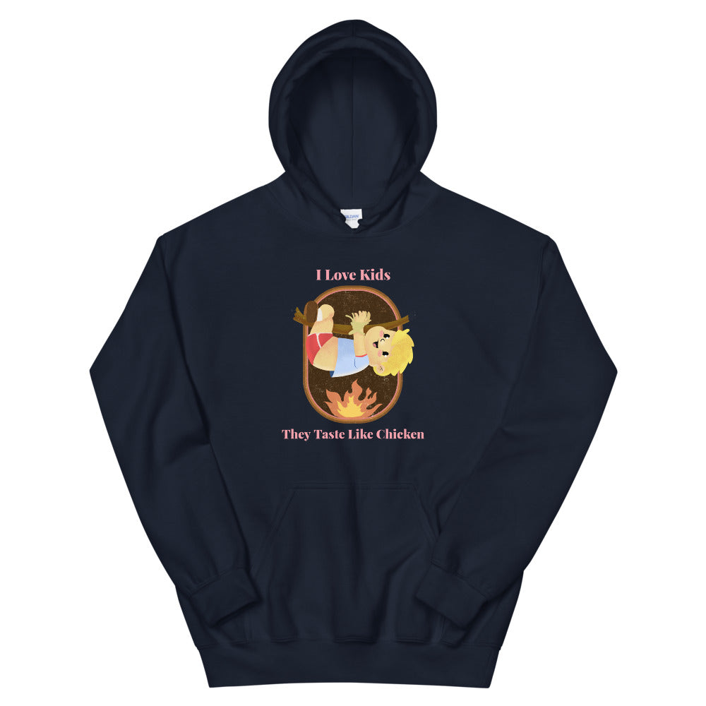 Evil Elementary Tastes Like Chicken Adult Horror Hoodie