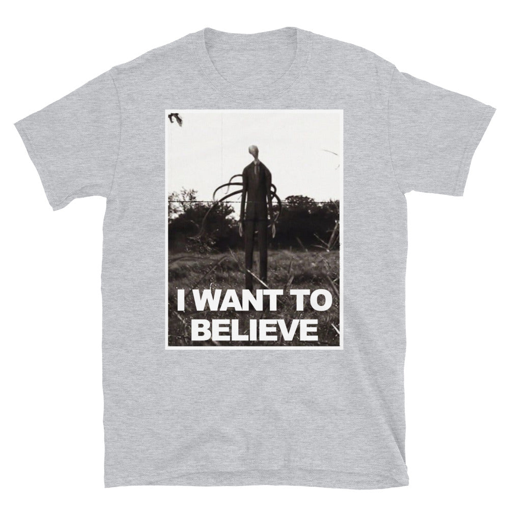 Believers T Shirt Slender Man Adult