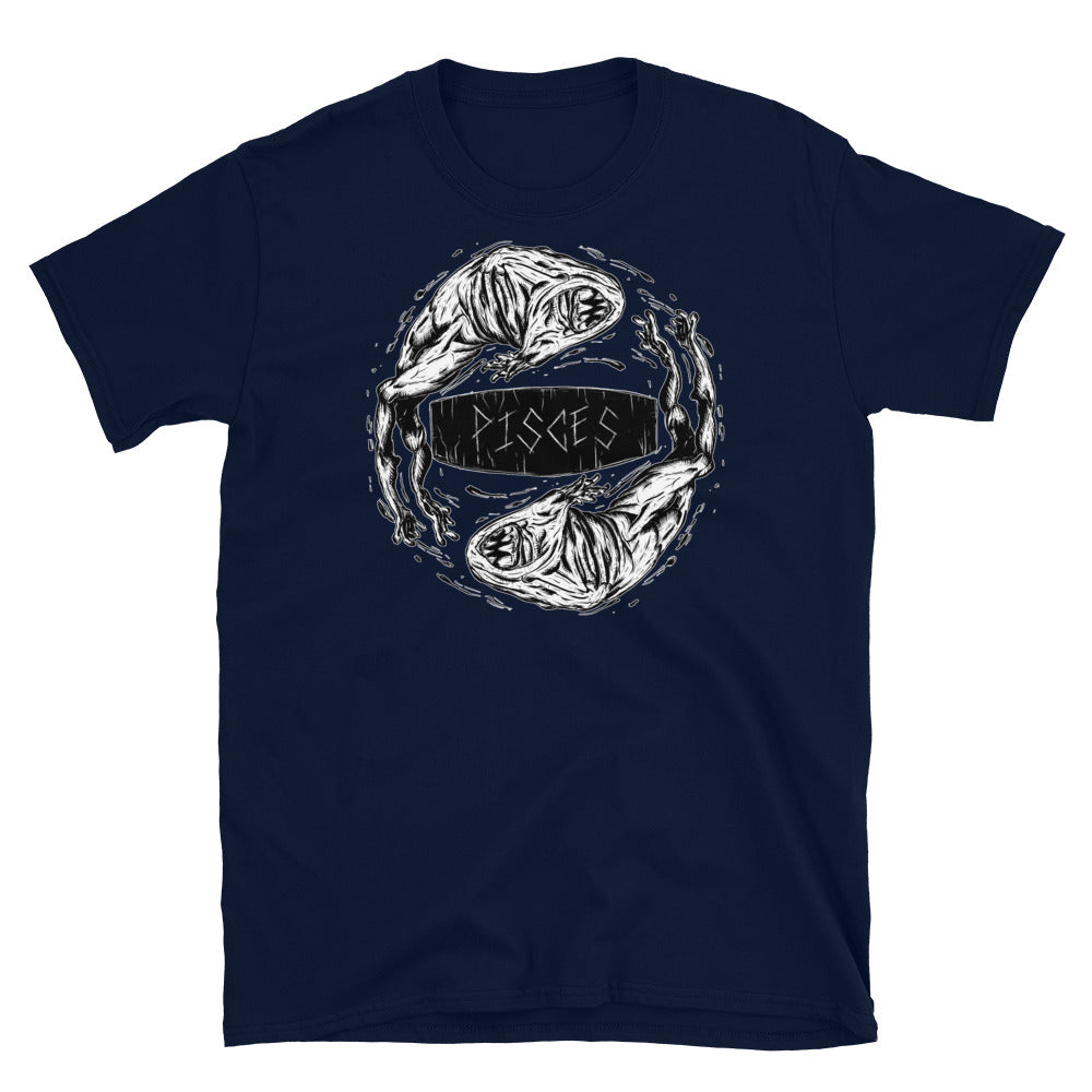 HorrorScopes T Shirt Pisces Zodiac Design Adult