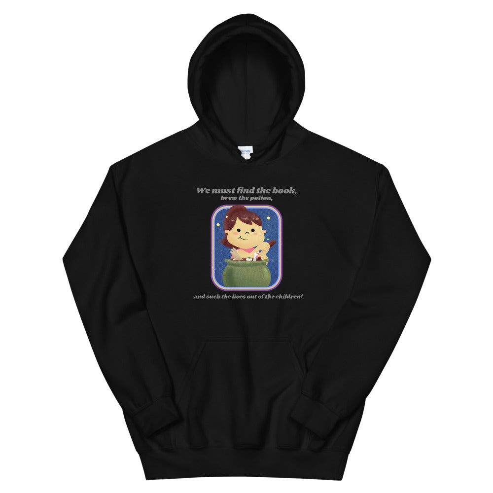 Evil Elementary Witch Adult Horror Hoodie