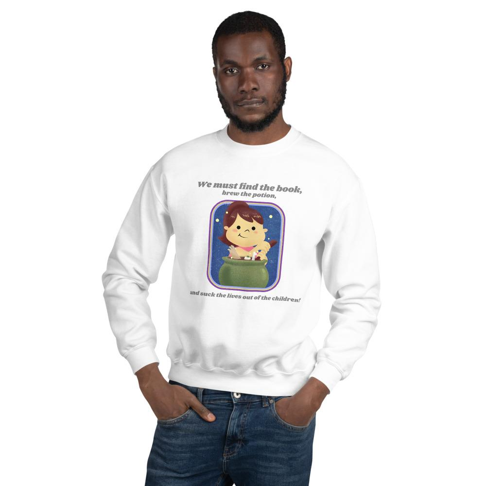 Evil Elementary Witch Adult Horror Sweatshirt