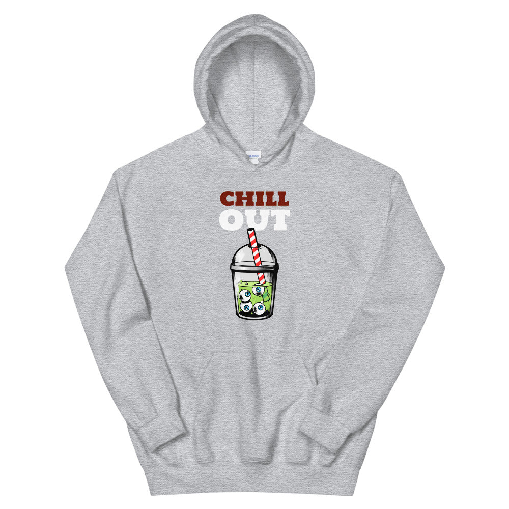 Zombie Bites Chill Out Funny Horror Hoodie