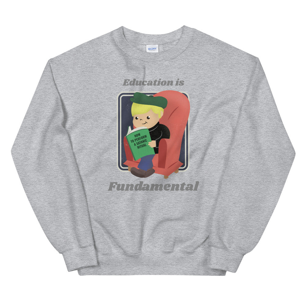 Evil Elementary Evil Education Adult Horror Sweatshirt