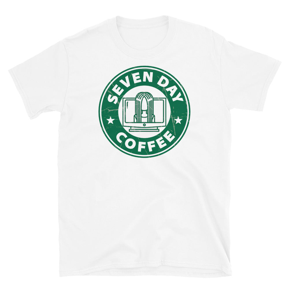Coffee Shop of Horrors Seven Day Coffee Adult Horror T Shirt