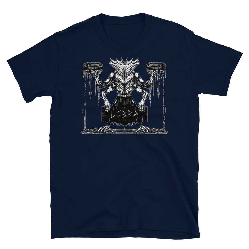 HorrorScopes T Shirt Libra Zodiac Design Adult