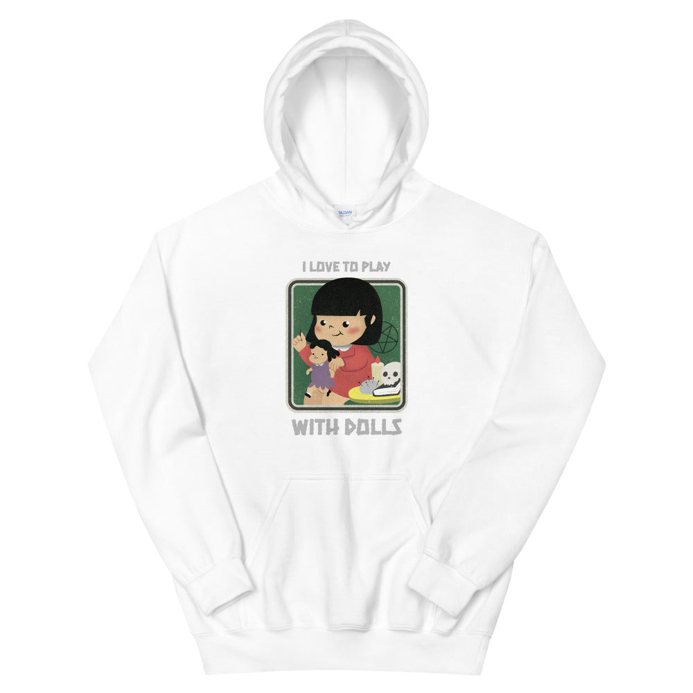 Evil Elementary Play With Dolls Adult Horror Hoodie