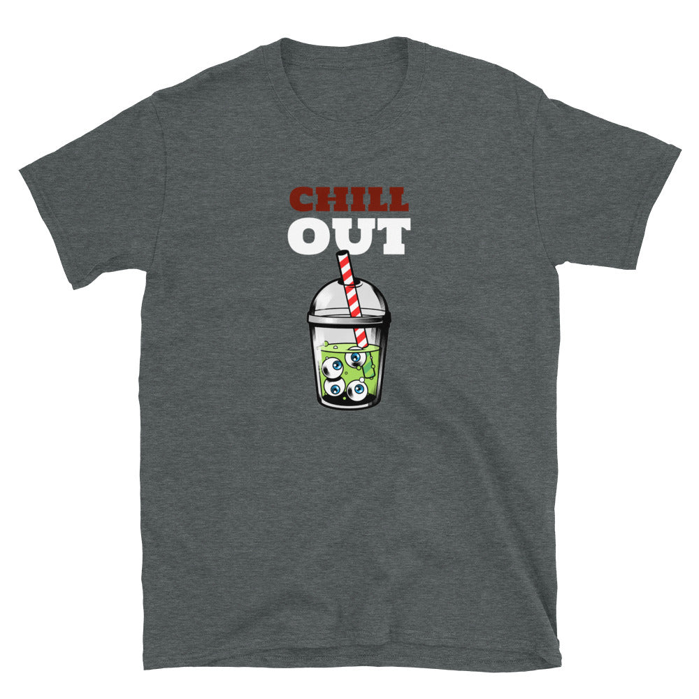 Zombie Bites Chill Out Funny Horror T Shirt