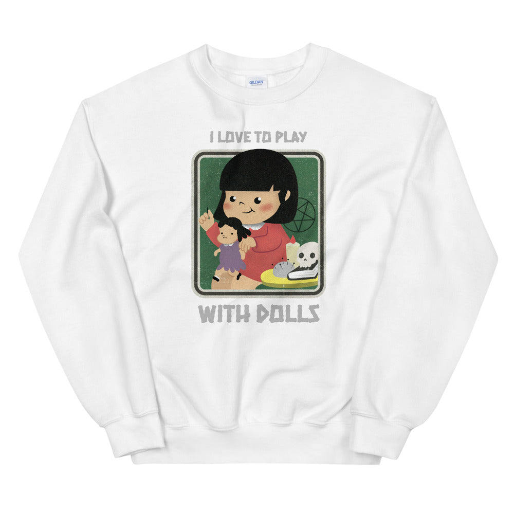 Evil Elementary Play With Dolls Adult Horror Sweatshirt