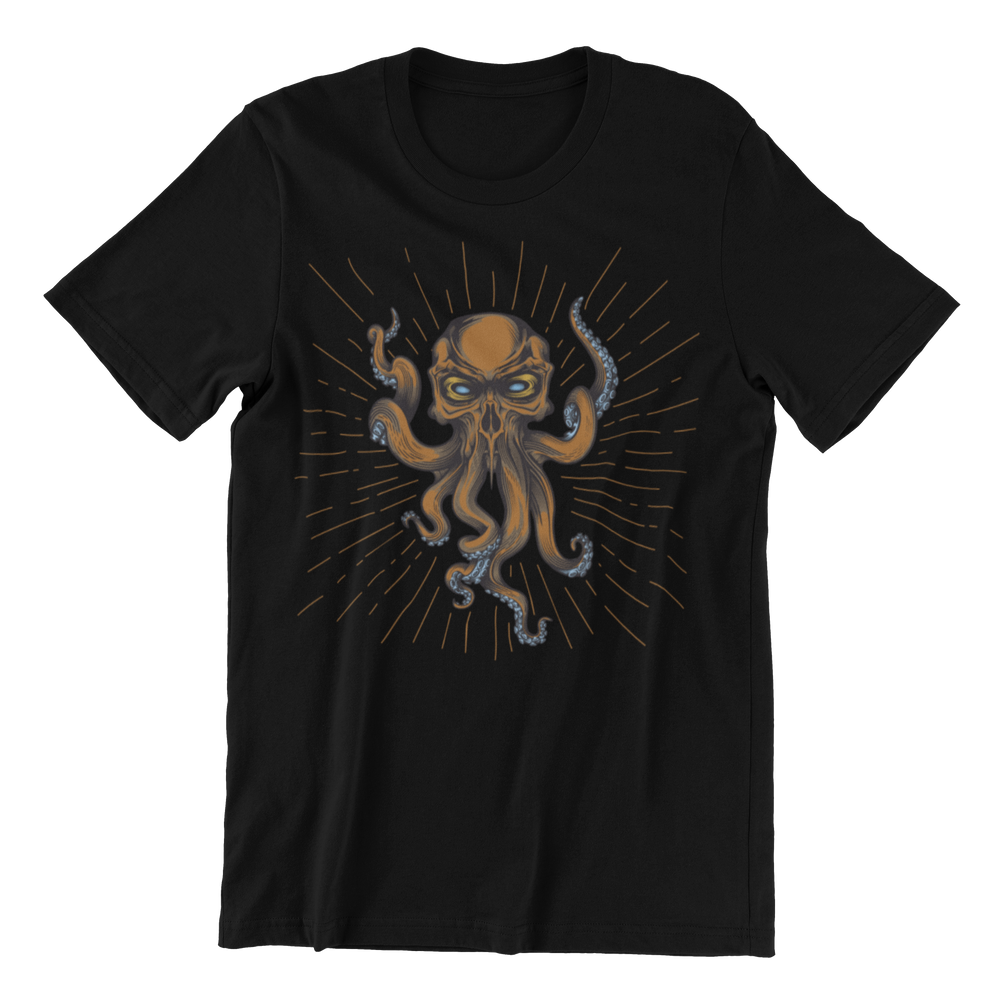 H.P. Lovecraft Cthulhu Bronze Design T Shirt