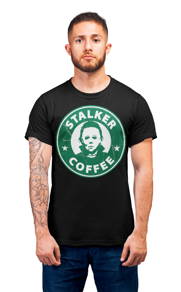 Coffee Shop of Horrors Stalker Coffee Adult Horror T Shirt