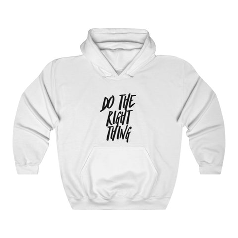 TroyInLA Do the Right Thing White Hoodie