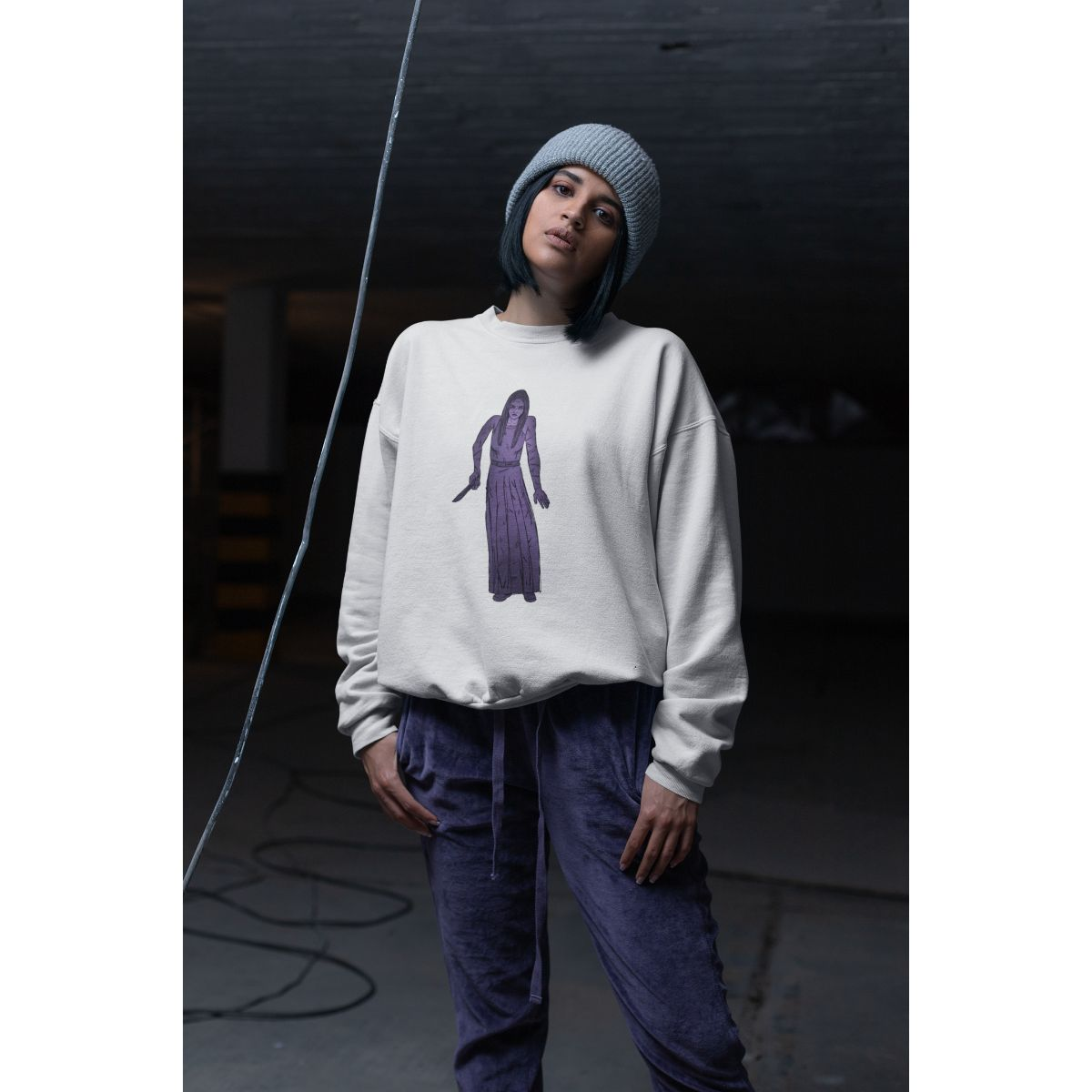 Mort Anims Horror Woman Sweatshirt