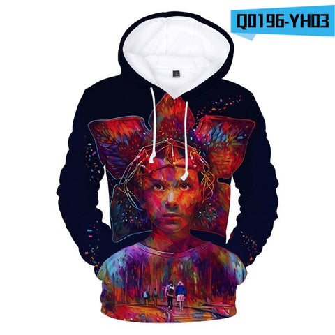 Stranger Things 3D Dollar Hoodie