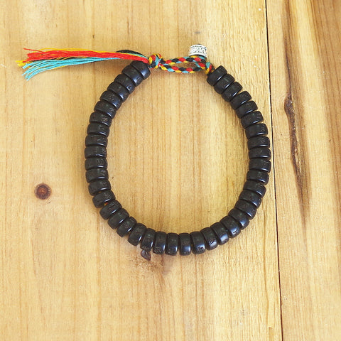 Handmade Tibetan Buddhist Braided Cotton Thread Lucky Bracelet