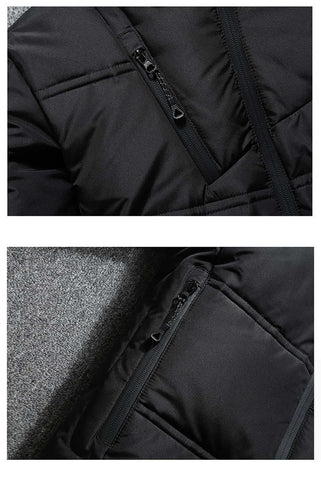 Winter Jacket Mens Quality Thermal Thick Coat- White Duck Down