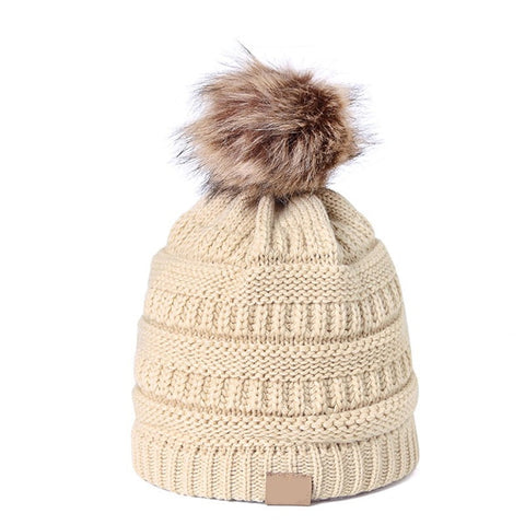 Knitted Beanie Warm Winter Hat for Adult and Children