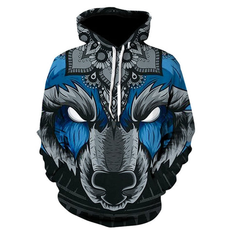 Space Galaxy Wolf/Animals 3D Hoodies