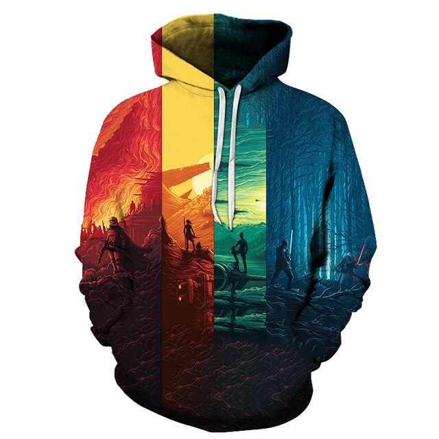 Sunset Fighter 3D Dollar Hoodie