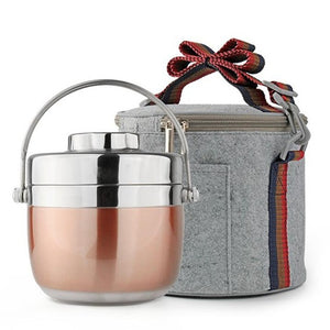 Kids Stainless Steel Bento Lunch Box With Carrying Bag