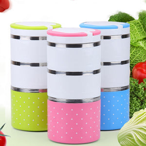 Portable Stackable Multilayer Stainless Steel Insulated Thermal Lunch Box Bento Boxes