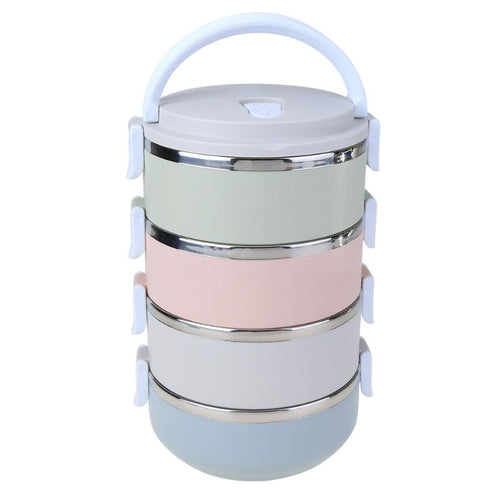 Multi-Layer Thermal Insulated Bento Box for Soup or Solid Foods