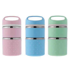 Double Layer Stainless Steel Thermal Lunch Bento Box