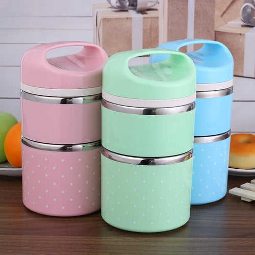 Portable Stainless Steel Thermal Lunch Bento Box
