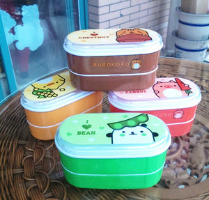 Multilayer Kids Bento Boxes With Japanese Animal Characters