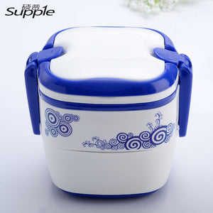 Three Layer Traditional Chinese Plastic Lunch Bento Box for Kids