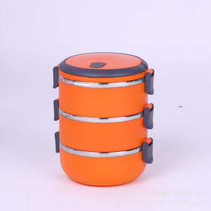 One set of portable thermal insulated Bento boxes 3 colors available