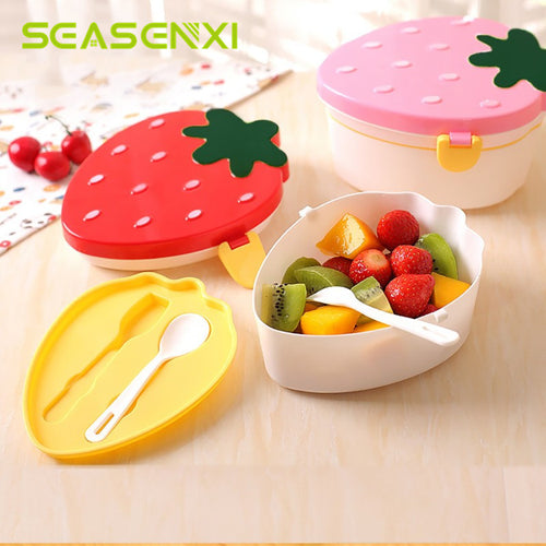 Cute Kids Strawberry Bento Box