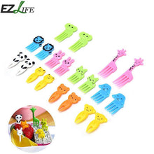 10 Piece Animal Character Fork and Pick Set
