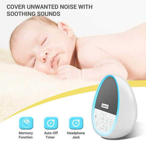 Airsee White Noise Machine,sleeping sound machine baby,office,portable,baterry,relax,insomnia treatment