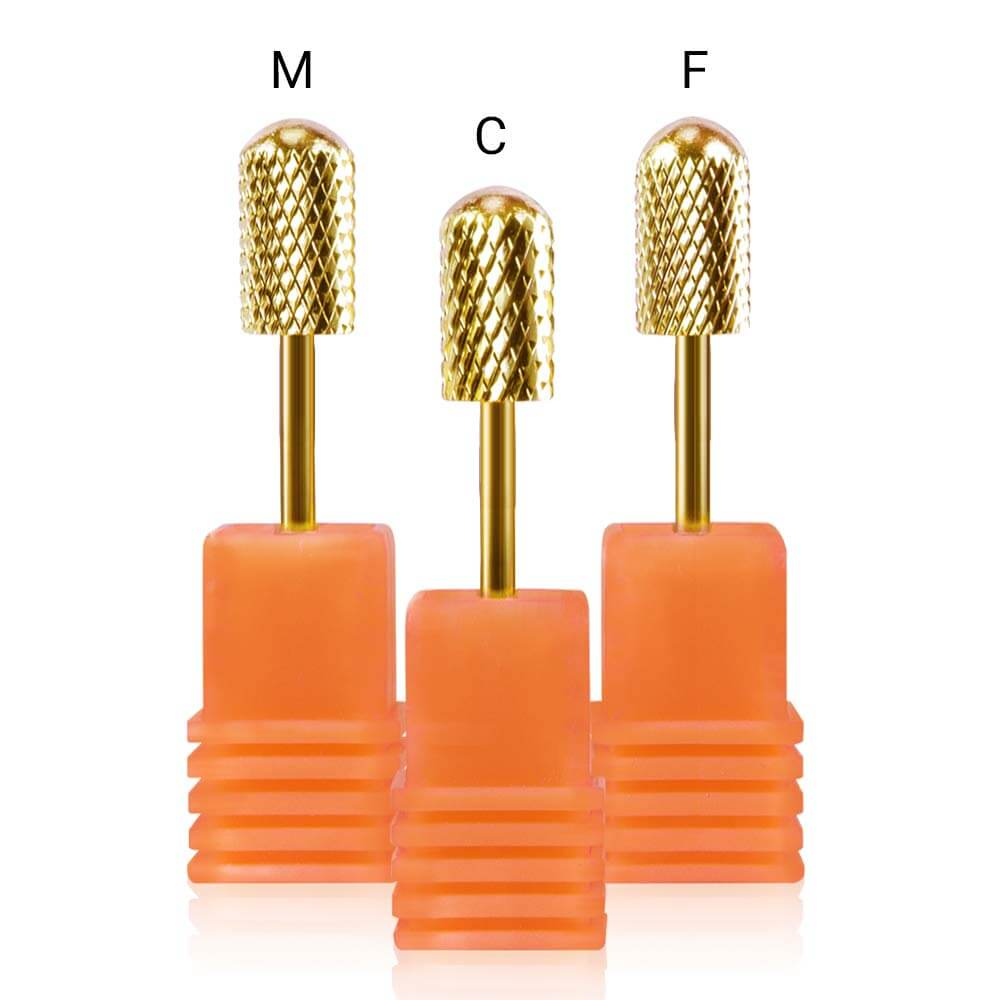 NS0112 Tungsten Carbide Nail Drill Bits Set (Gold)
