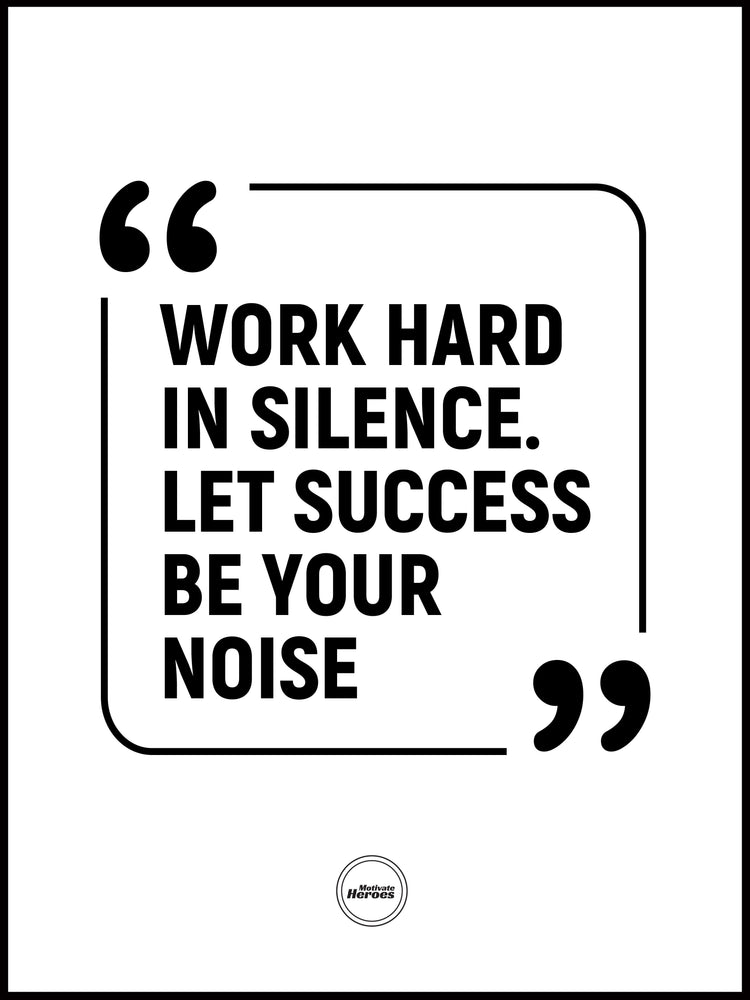 Work Hard In Silence Let Success Be Your Noise - Acrylic Prism - Motivate Heroes