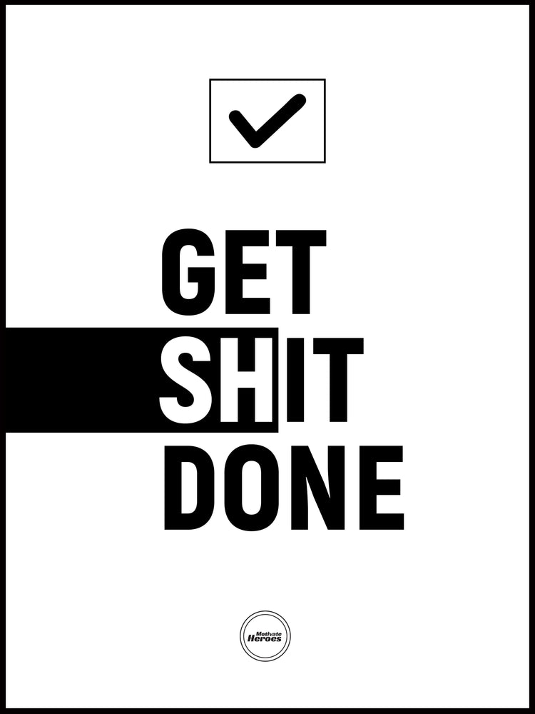 GET SHIT DONE - ACRYLIC PRISM