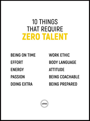 10 THINGS THAT REQUIRE ZERO TALENT - ACRYLIC PRISM - Motivate Heroes