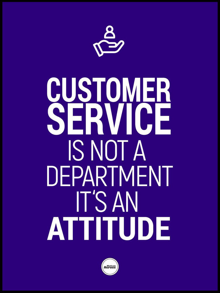 CUSTOMER SERVICE IS NOT A DEPARTMENT - ACRYLIC PRISM - Motivate Heroes