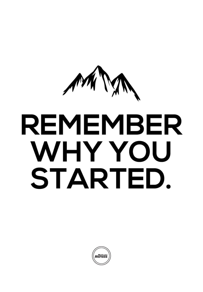 REMEMBER WHY YOU STARTED - ACRYLIC PRISM - Motivate Heroes