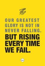 OUR GREATEST GLORY IS NOT IN NEVER FALLING - ACRYLIC PRISM