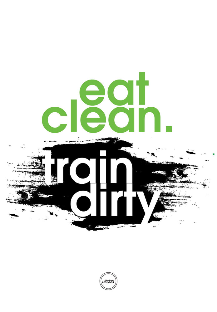 EAT CLEAN TRAIN DIRTY - ACRYLIC PRISM - Motivate Heroes