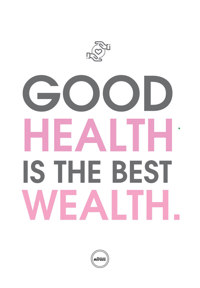 GOOD HEALTH IS THE BEST WEALTH - ACRYLIC PRISM