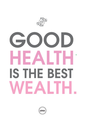 GOOD HEALTH IS THE BEST WEALTH - ACRYLIC PRISM - Motivate Heroes