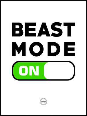 BEAST MODE ON - ACRYLIC PRISM - Motivate Heroes