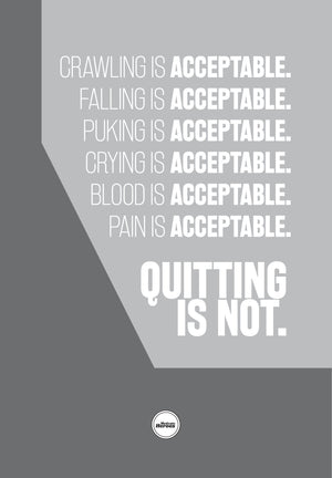 QUITTING IS NOT ACCEPTABLE - ACRYLIC PRISM - Motivate Heroes