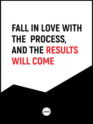 FALL IN LOVE WITH THE PROCESS - Motivate Heroes