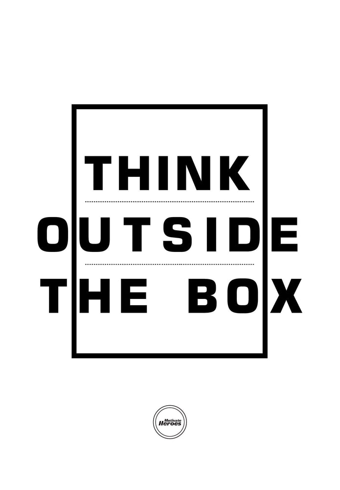 THINK OUTSIDE THE BOX - ACRYLIC PRISM - Motivate Heroes