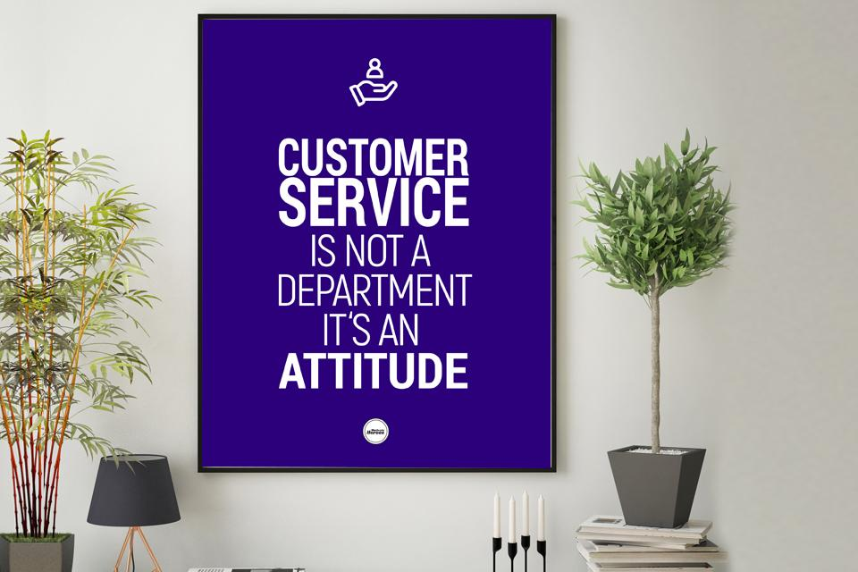CUSTOMER SERVICE IS NOT A DEPARTMENT - Motivate Heroes